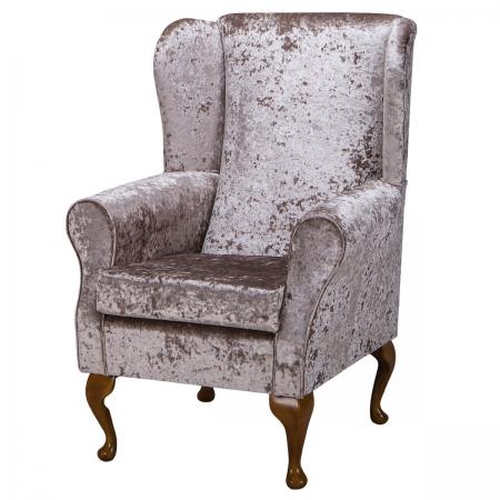 Standard Wingback Fireside Westoe Chair in a Senso...