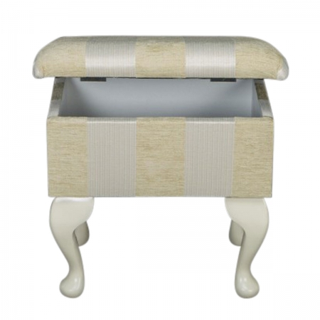 Small Dressing Table Stool in a Woburn Gold Stripe...