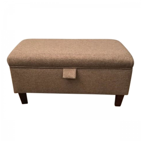 Storage Footstool, Ottoman, Pouffe in a Light Brown...