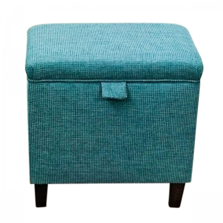 Tall Storage Footstool, Ottoman, Pouffe in a Teal...
