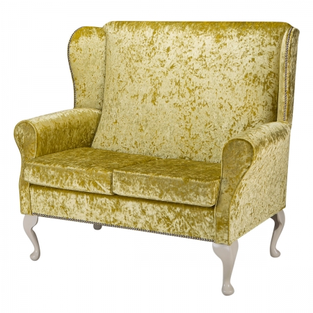 2 Seater Westoe Sofa in a Chartreuse Bling Crushed...