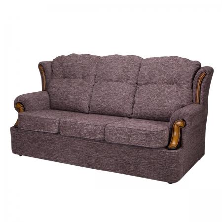 3 Seater Verona Sofa in a Cromwell Plum Fabric