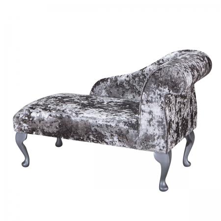 "41"" Mini Chaise Longue in a Lustro Flint Fabric"