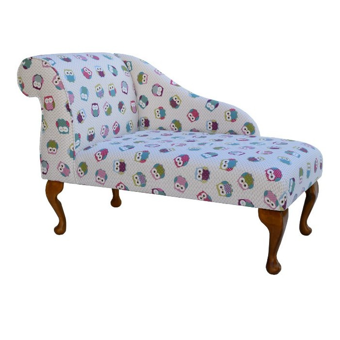 "41"" Mini Chaise Longue in a Novelty Time Owls Multi Fabric"