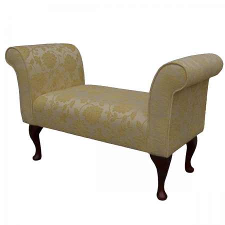 """41"""" Standard Settle in a Woburn Floral Gold Chenille..."""