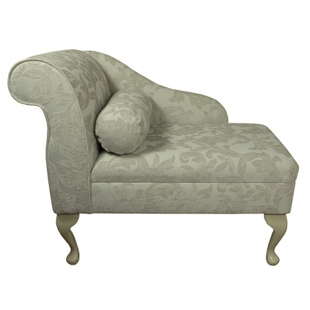 "36"" Compact Chaise in a Pale Cream Fortuna Floral Fabric"