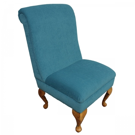 Bedroom Chair in a Pimlico Crush Blue Azure Fabric