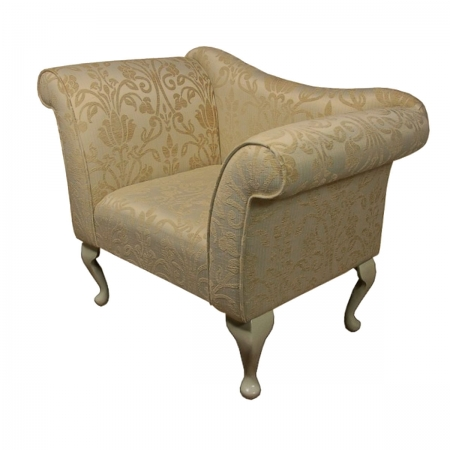 Designer Chaise Chair in a Woburn Medallion Gold Fabric