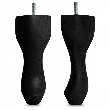 "8"" Hardwood Queen Anne Legs - Black"
