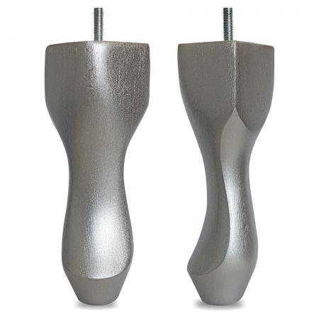"8"" Hardwood Queen Anne Legs - Silver"