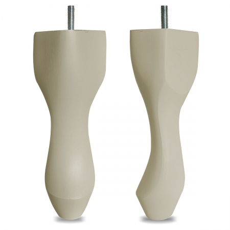 "8"" Hardwood Queen Anne Legs - Cream"
