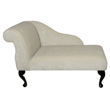 "41"" Mini Chaise Longue in a Velluto Oyster Fabric - VEL200"
