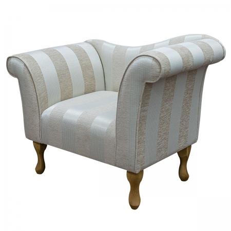 Designer Chaise Chair in an Woburn Beige Striped...