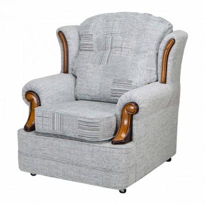 Verona Chair in a Maida Vale Patchwork Grey Fabric...