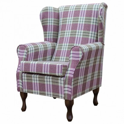 Medium Wingback Fireside Westoe Chair in a Kintyre...