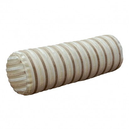 Bolster Cushion in an Eleganza Candy Stripe Honey &...