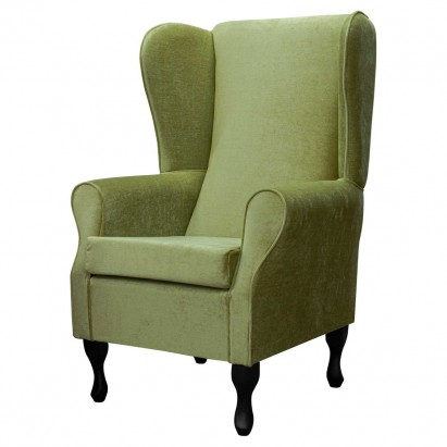 Large Highback Westoe Chair in a Velluto Lime Green...