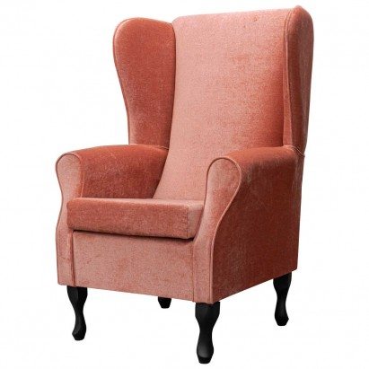 Large Highback Westoe Chair in a Velluto Flame...