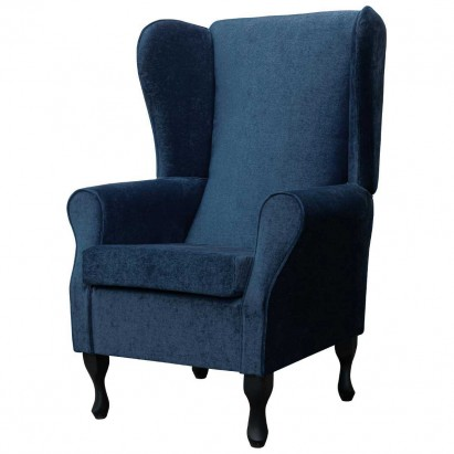 Large Highback Westoe Chair in a Velluto Royal Blue...