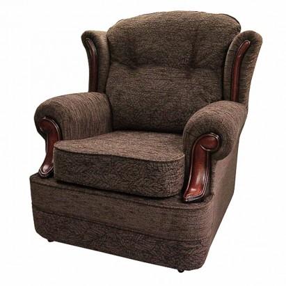 Verona Chair in a Portobello Leaf Earth Fabric With...