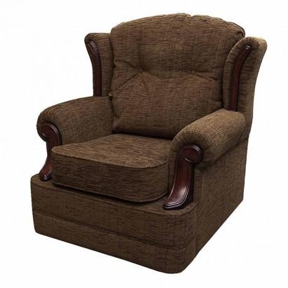Verona Chair in a Portobello Stria Cocoa Fabric With...