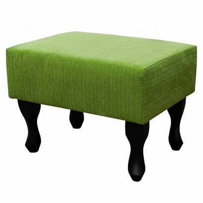 Small Footstool in a Topaz Lime Fabric