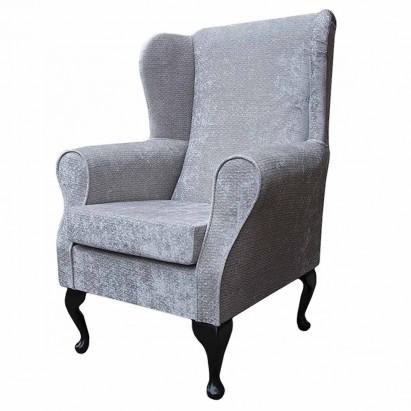 Standard Wingback Fireside Westoe Chair in an Argent...
