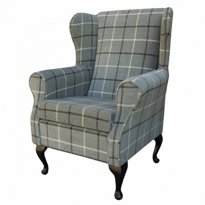 Medium Wingback Fireside Westoe Chair in a Lana...