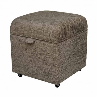 Storage Box Footstool in a Portobello Boucle Cocoa...