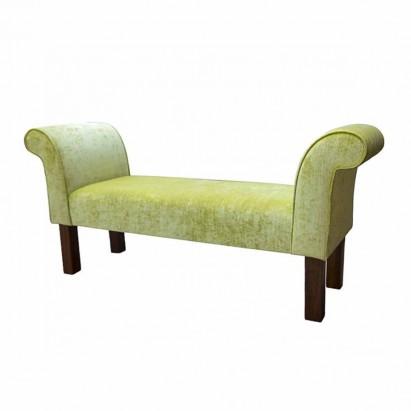 """56"""" Medium Settle in a Pastiche Crush Slub Lime Fabric"""