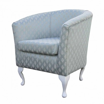 Designer Tub Chair in a Conway Duck Egg Blue Fabric