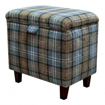 Tall Storage Footstool Box, Ottoman, Pouffe in a...