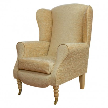 Duchess Wingback Armchair in a Maida Vale Plain Gold...
