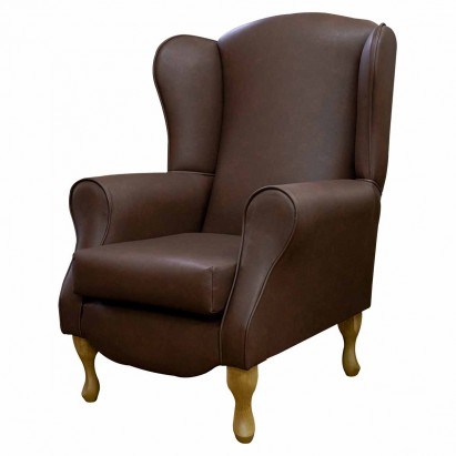 Duchess Wingback Armchair in an Infiniti Tan Faux...
