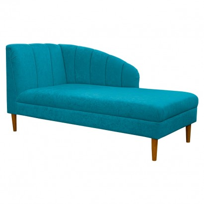 """70"""" Large Seashell Chaise Longue Daybed in a Plush..."""