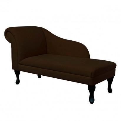"""52"""" Medium Chaise Longue in a Plush Chocolate Brown..."""