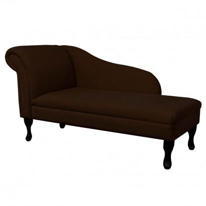 """56"""" Medium Chaise Longue in a Plush Chocolate Brown..."""