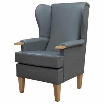 Kensington Westoe Chair in an Eel Grey Faux Leather...