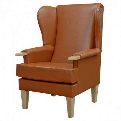 Kensington Westoe Chair in a Saddle Faux Leather...