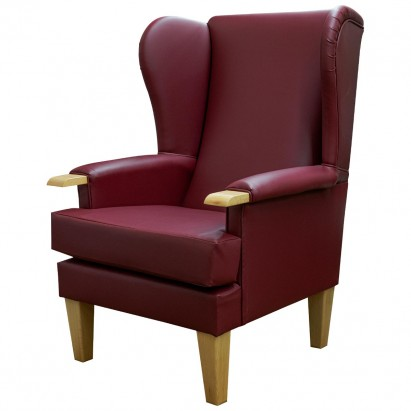 Kensington Westoe Chair in a Red Apple Faux Leather...