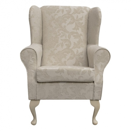 Westoe in a Pale Cream Fortuna Floral Fabric - Fort102