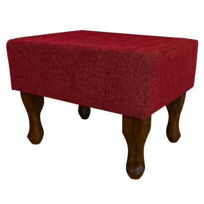 Small Footstool in an Ancona Ruby Fabric