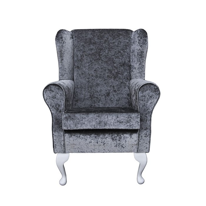 Westoe in a Pewter / Grey / Silver Crushed Velvet Chenille - SENS1184