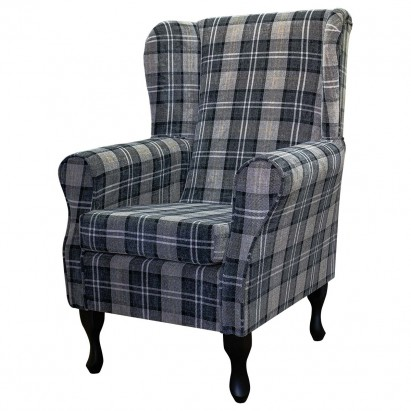 Standard Wingback Fireside Westoe Chair in a Lana...