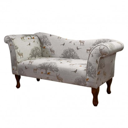Designer Chaise Sofa in a Tatton Cotton Fabric