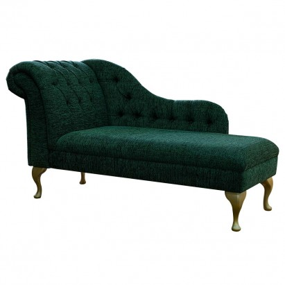 "60"" Large Deep Buttoned Kilburn Plain Bottle Green..."