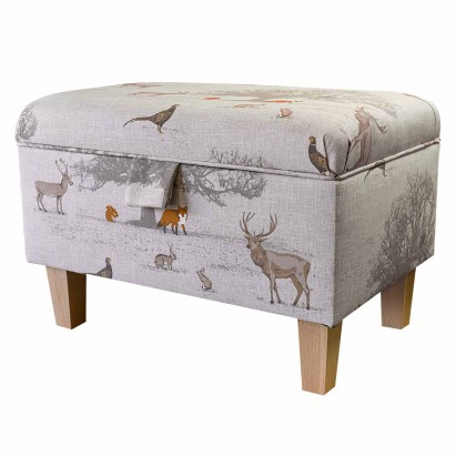 Storage Footstool, Ottoman, Pouffe in a Tatton...