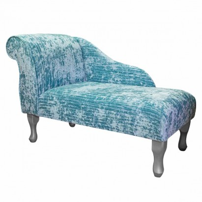"41"" Mini Chaise Longue in a Jazz Duck Egg Fabric"