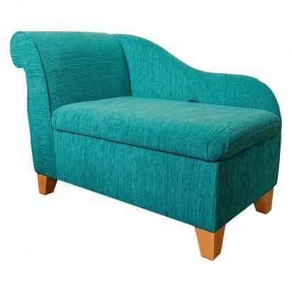 """41"""" Storage Chaise Longue in a Portobello Boucle..."""