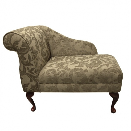 "36"" Compact Chaise in a Spanish Gold Floral Fabric - FORT101"